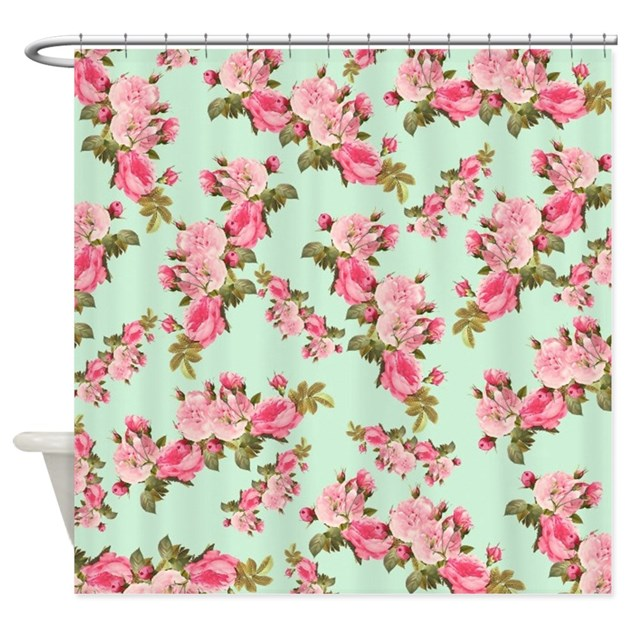 Vintage Floral Shower Curtain By Flowersforyou1