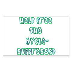 Myelosuppressed! Rectangle Decal