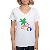 Beach ball Womens V-Neck T-shirts