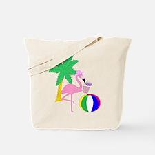 Pink Flamingo Tourist Tote Bag