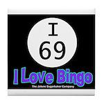 I 69 I Love Bingo Tile Coaster