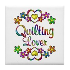 Quilting Lover Tile Coaster