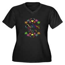 Quilting Lov Women's Plus Size V-Neck Dark T-Shirt
