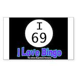 I 69 I Love Bingo Rectangle Sticker