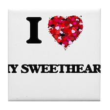 I love My Sweetheart Tile Coaster