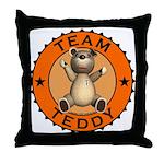 Team Teddy Bear Throw Pillow