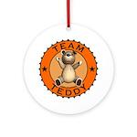Team Teddy Bear Ornament (Round)