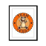 Team Teddy Bear Framed Panel Print