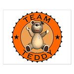 Team Teddy Bear Small Poster