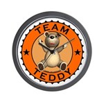 Team Teddy Bear Wall Clock