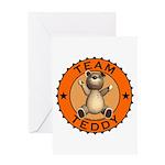 Team Teddy Bear Greeting Card