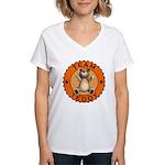 Team Teddy Bear Women's V-Neck T-Shirt