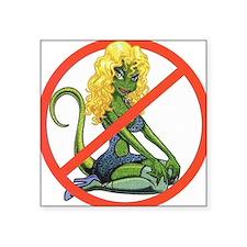 """No Lot Lizards Square Sticker 3"""" x 3"""""""