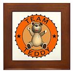 Team Teddy Bear Framed Tile