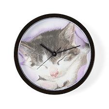 'Lily' Cat Wall Clock