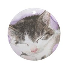 'Lily' Cat Round Ornament
