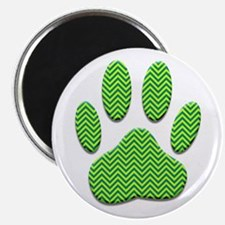 Chevron Dog Paw Print Magnets