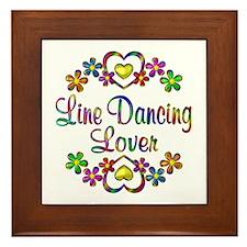 Line Dancing Lover Framed Tile