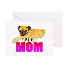 Fawn Pug Mom Greeting Card