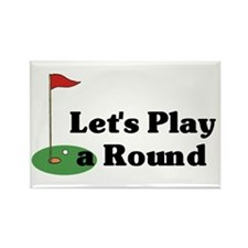 Let's Play a Round golf Rectangle Magnet