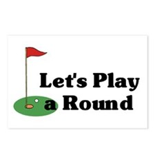 Let's Play a Round golf Postcards (Package of 8)