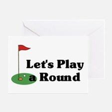 Let's Play a Round golf Greeting Card