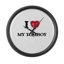 I love My Tomboy Large Wall Clock