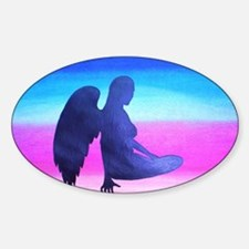 Angel at Rest Sticker (Oval)