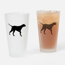 Pointer Dog On Point Drinking Glass