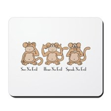 See No Evil Mousepad