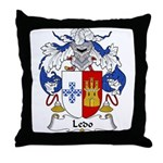Ledo Family Crest Throw Pillow
