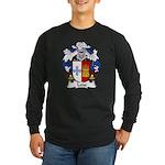 Ledo Family Crest Long Sleeve Dark T-Shirt