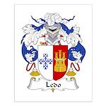 Ledo Family Crest Small Poster
