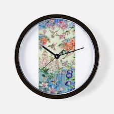 Hummingbirds and Flowers Wall Clock
