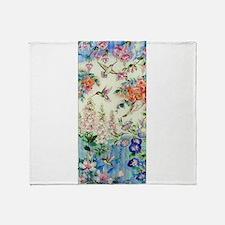 Hummingbirds and Flowers Throw Blanket