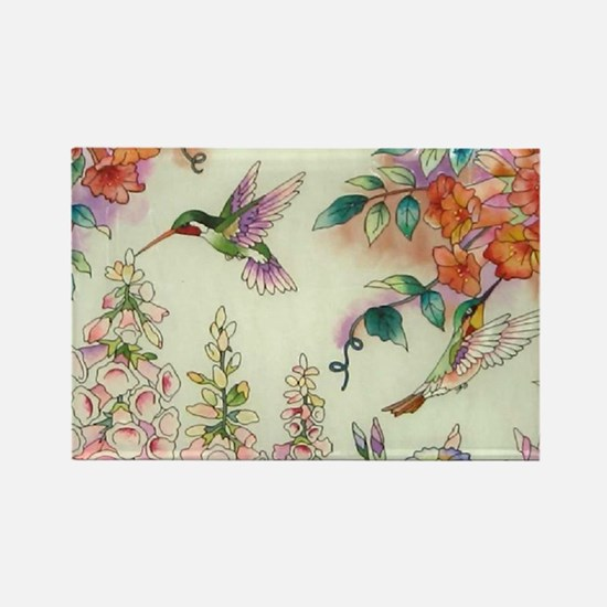 Hummingbirds and Flowers Magnets