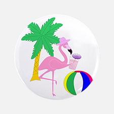 Pink Flamingo Tourist Button