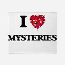 I Love Mysteries Throw Blanket