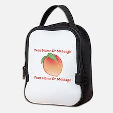 PERSONALIZED Peach Cute Neoprene Lunch Bag