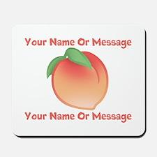 PERSONALIZED Peach Cute Mousepad