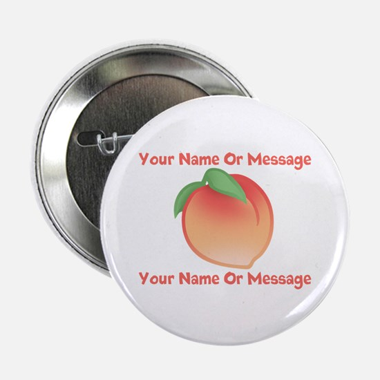 "PERSONALIZED Peach Cute 2.25"" Button"
