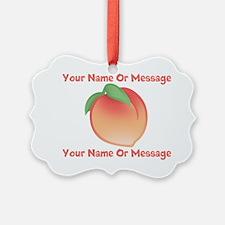PERSONALIZED Peach Cute Ornament
