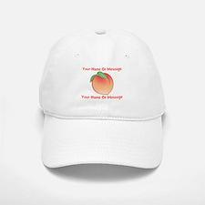 PERSONALIZED Peach Cute Baseball Hat