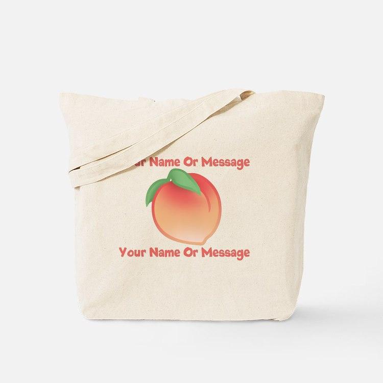 PERSONALIZED Peach Cute Tote Bag