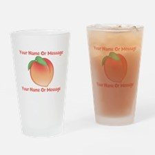 PERSONALIZED Peach Cute Drinking Glass