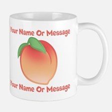 PERSONALIZED Peach Cute Mugs
