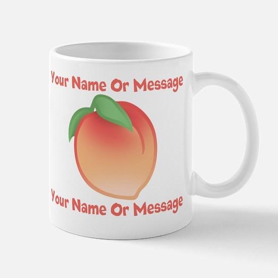 PERSONALIZED Peach Cute Mugs
