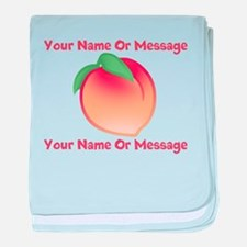 PERSONALIZED Peach Cute baby blanket