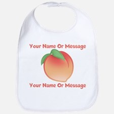 PERSONALIZED Peach Cute Bib