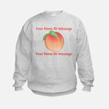 PERSONALIZED Peach Cute Sweatshirt